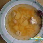 Суп куриный, картофельный с вермишелью.