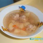 Суп с фрикадельками в мультиварке.