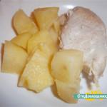 Куриная грудка с картофелем в фольге, в мультиварке.