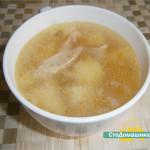 Куриный суп с картофелем в мультиварке.