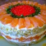 Салат с семгой «Новогодний»